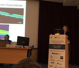 La presidenta de la Fundación Retinaplus+ profundiza en la tracción vítreo-macular y sus enfermedades asociadas en el v curso de actualización de retina y vítreo